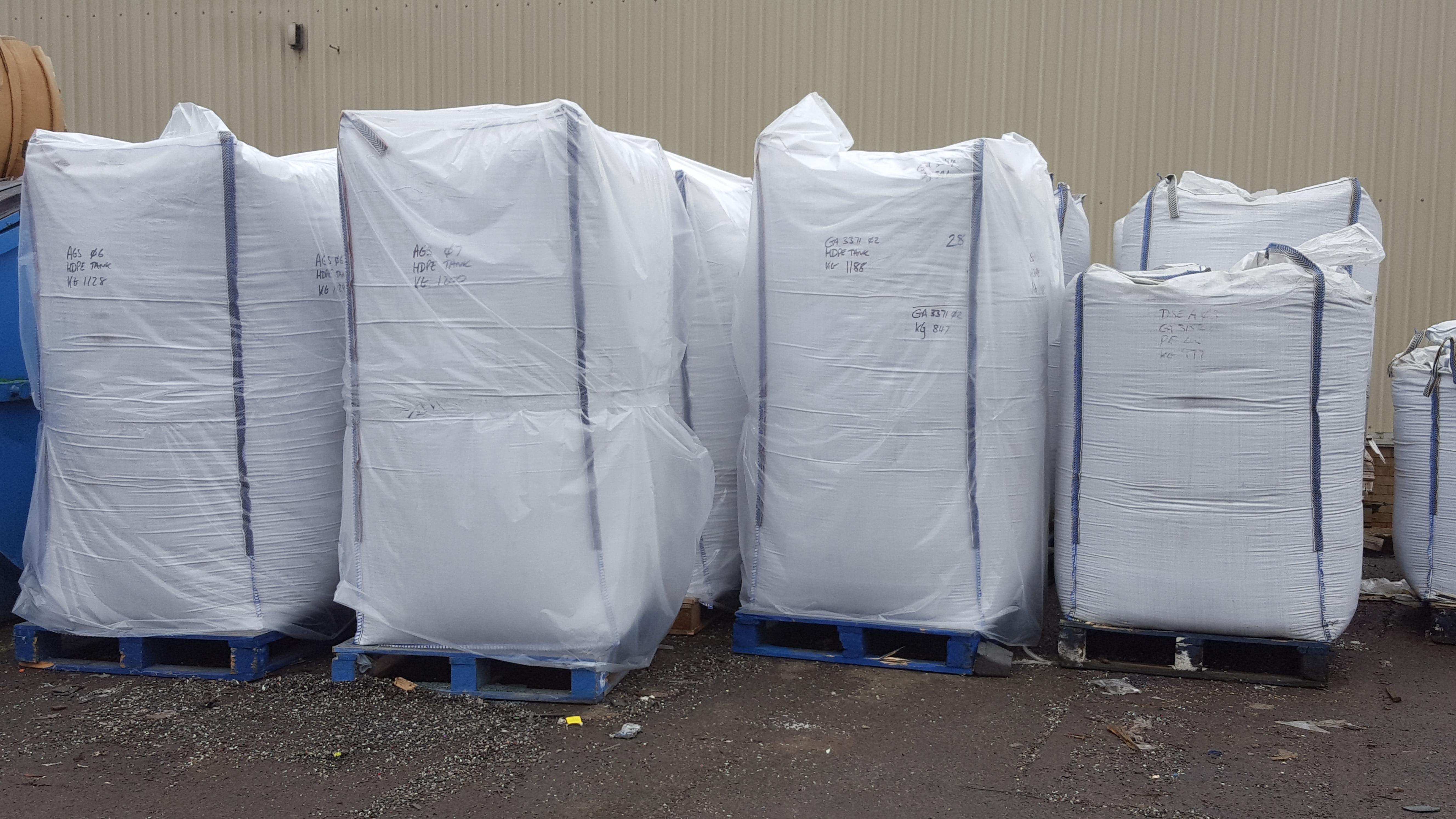 Plastic Regrind from plastic granulation