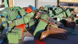 End of life Wheelie bins