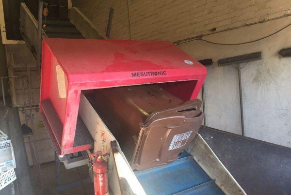 A 240 litre wheelie bin due for recycling