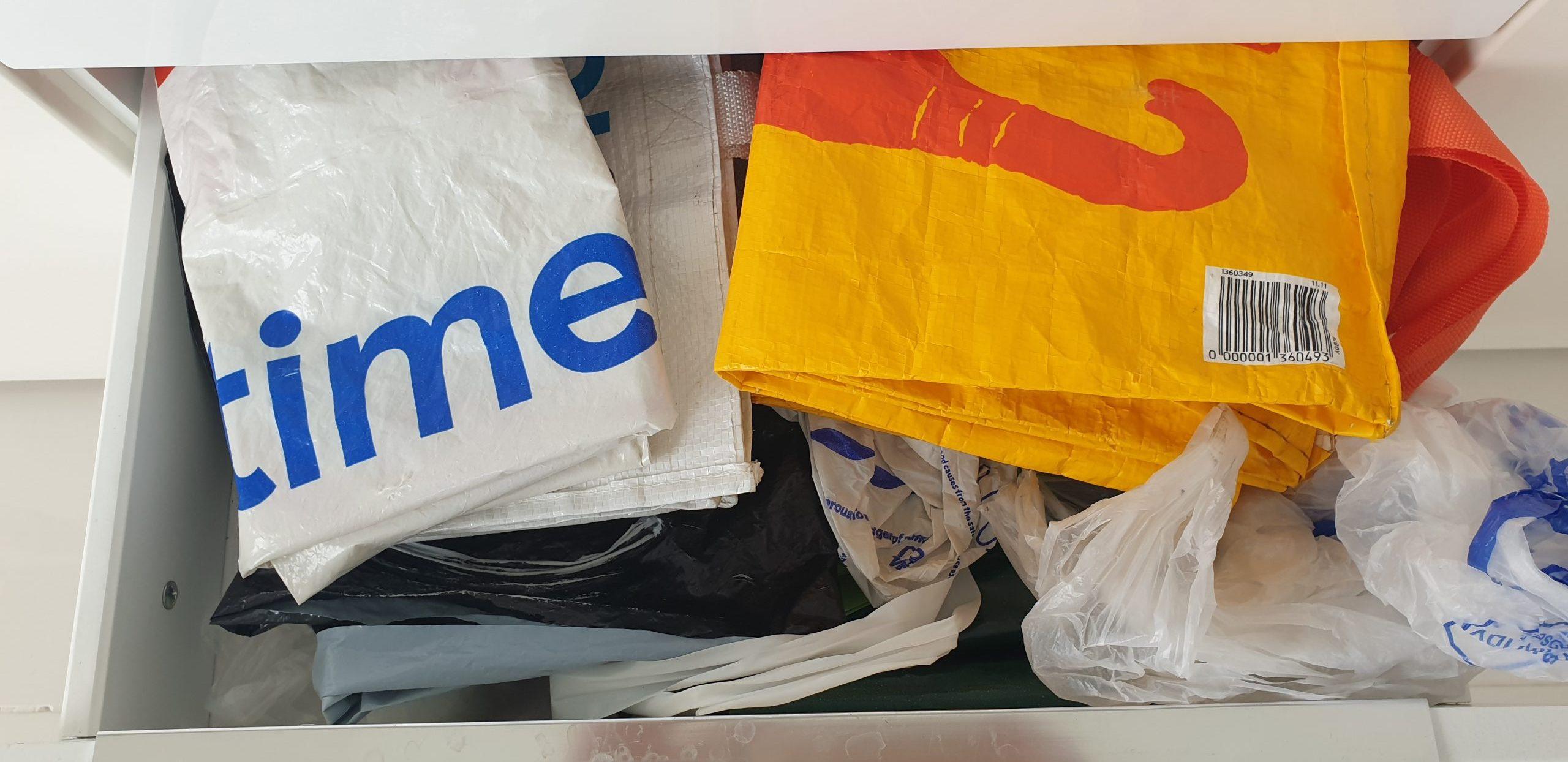 Always reuse plastic bags